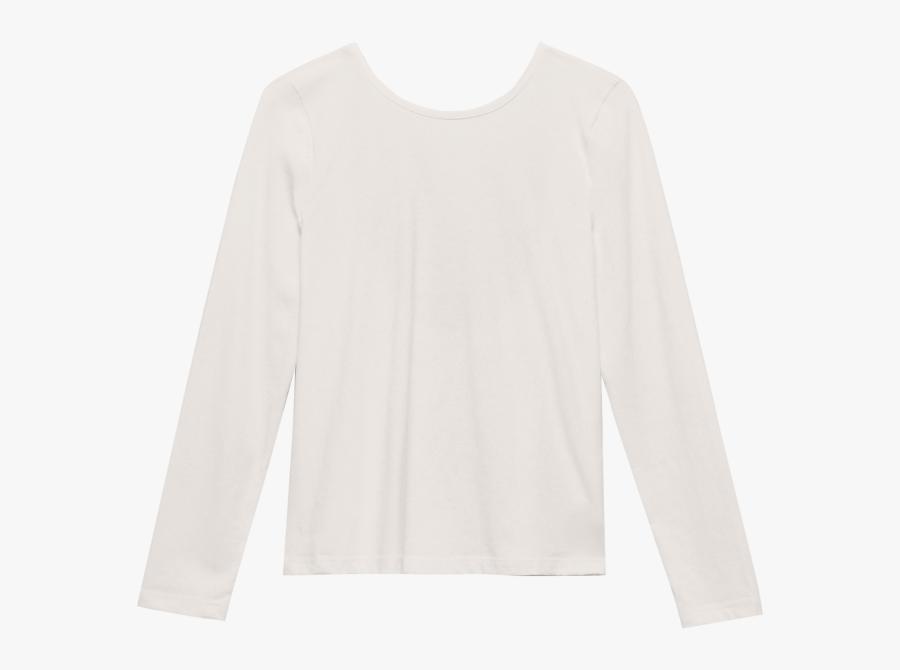 V Back Longsleeve Pastel Beige - Long-sleeved T-shirt, Transparent Clipart