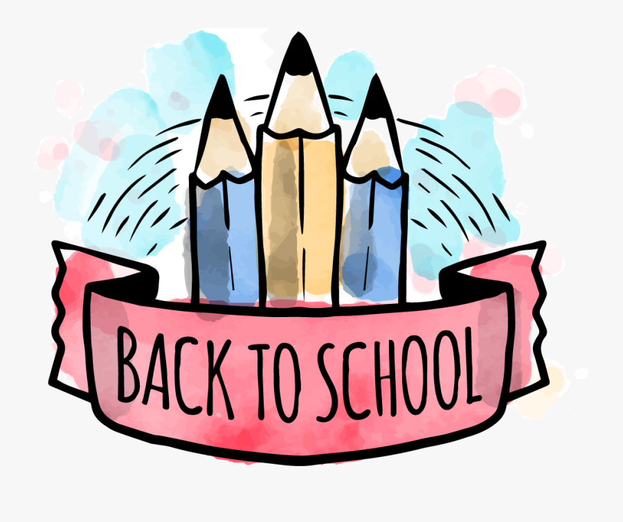 2019-2020 Back To School Information - First Day Of School Watercolor, Transparent Clipart