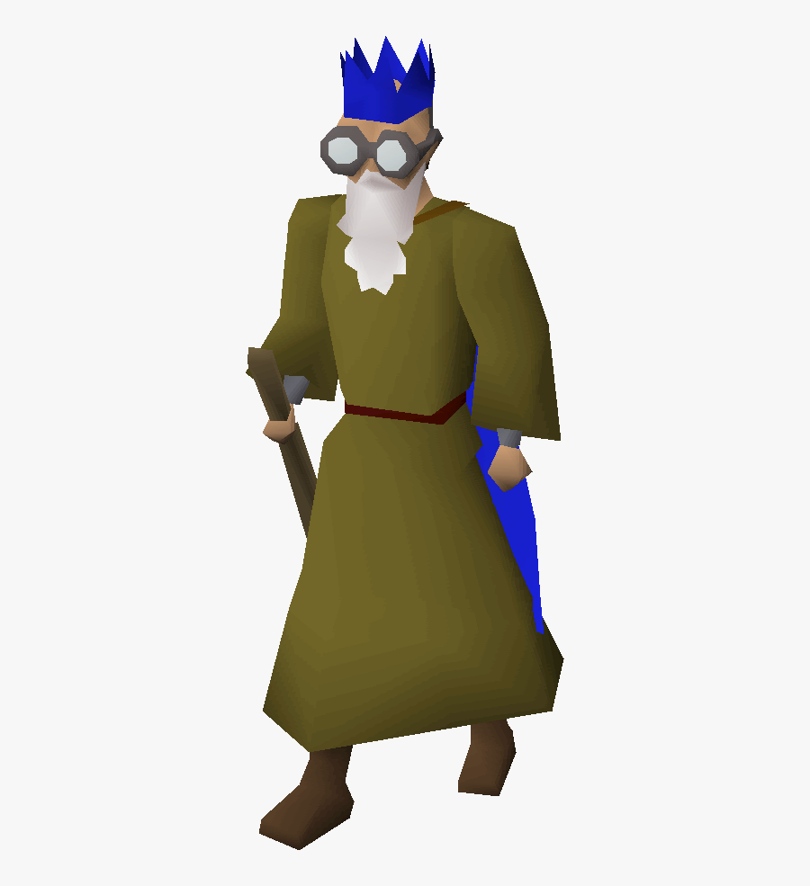 Transparent Mysterious Man Clipart - Old School Runescape Wise Old Man, Transparent Clipart