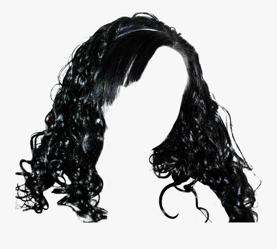 Girls Hair Wig Png Image - Black Girl Hair Png, Transparent Clipart