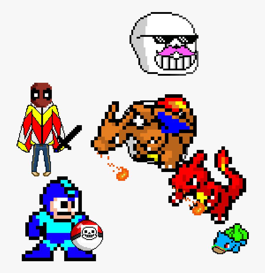 8 Bit Megaman Clipart , Png Download - Charizard Pixel Art Game, Transparent Clipart