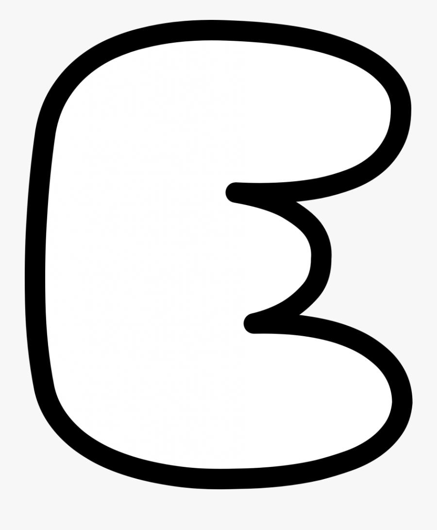 Bubble Letters Lowercase M Printable Nerdy Caterpillar - Letter E Bubble Letter, Transparent Clipart