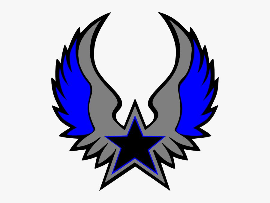 Blue Grey Star Emblem Svg Clip Arts - Logo Dream League Soccer Stars, Transparent Clipart