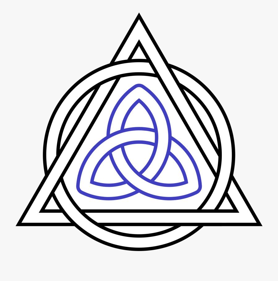 Transparent Triquetra Png - Holy Trinity Symbol, Transparent Clipart