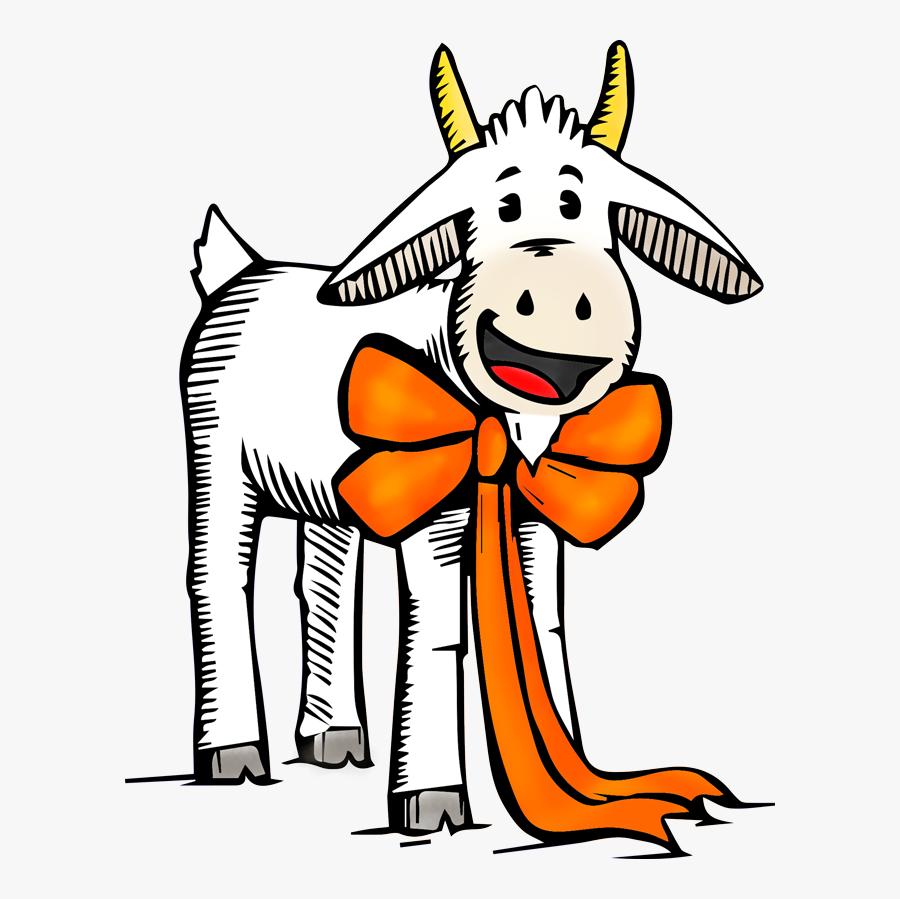 Kids Corner Goat Mascot - Cartoon, Transparent Clipart