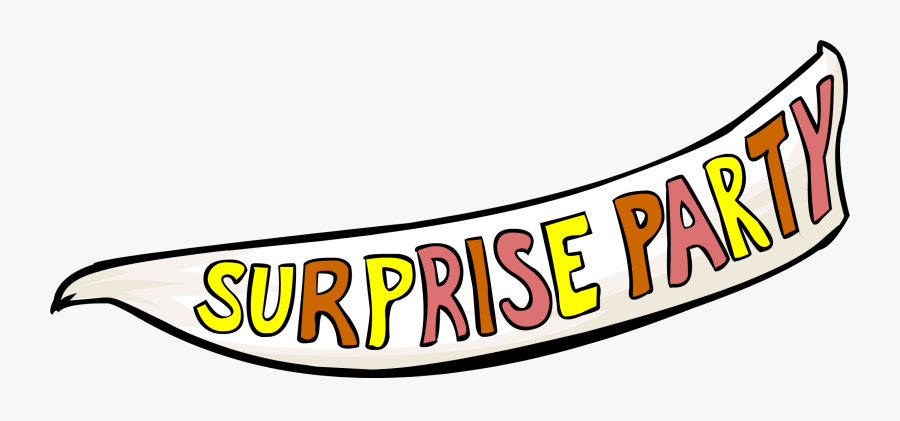 Surprise Party - Club Penguin Beta Test Banner, Transparent Clipart