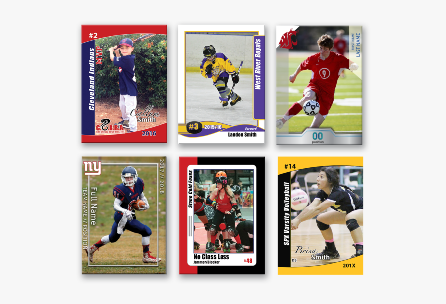 Baseball Cards Png - Sports Trading Cards, Transparent Clipart