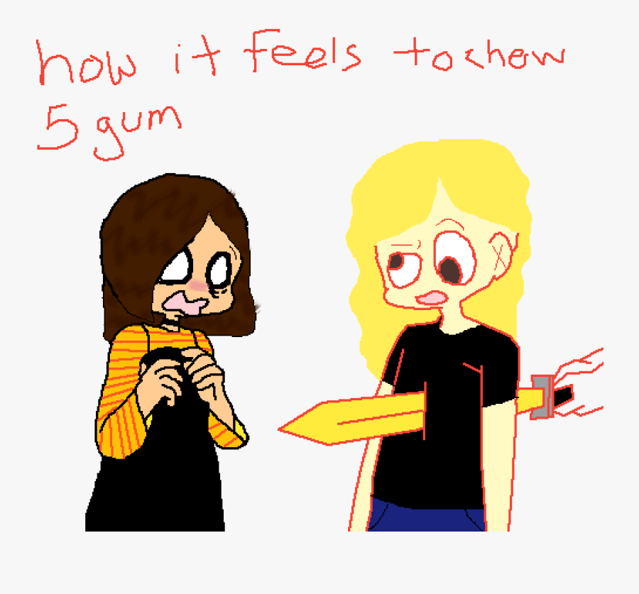 Feels Like To Chew 5 Gum, Transparent Clipart