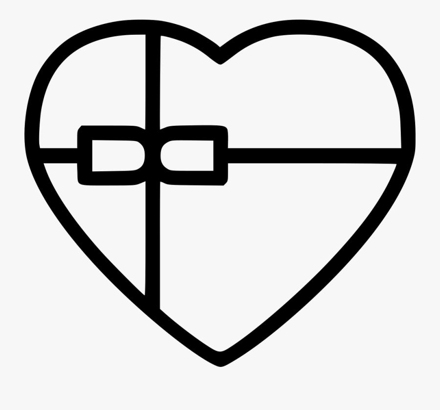 Chocolate Ribbon Box Png - Cross, Transparent Clipart