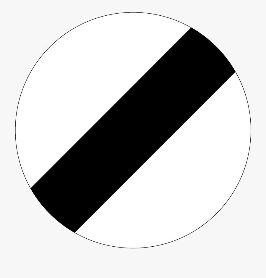New Zealand Road Sign R1-2 - National Speed Limit Sign, Transparent Clipart