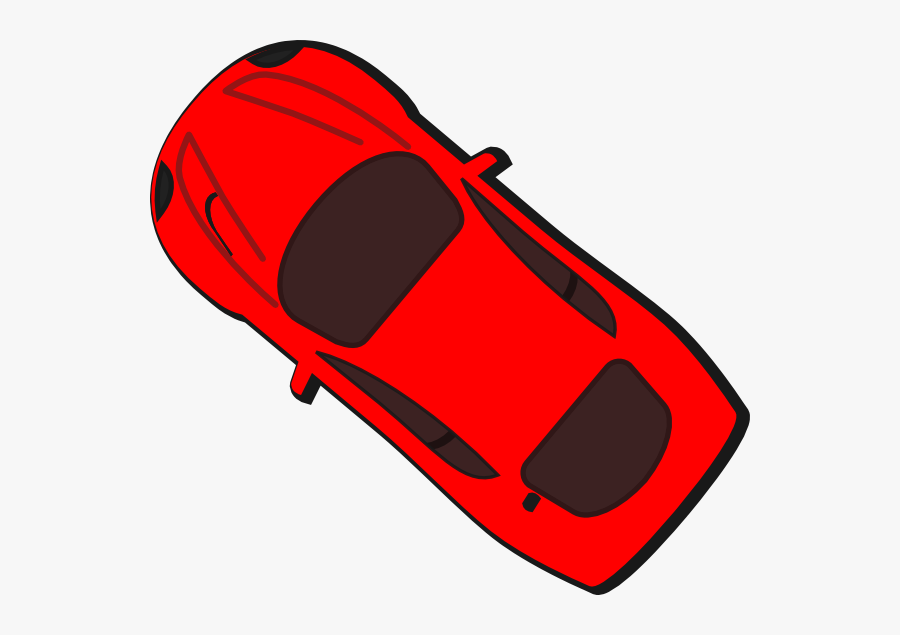 Red Car Vector Top View Clipart , Png Download - Red Car Top View Clip Art, Transparent Clipart
