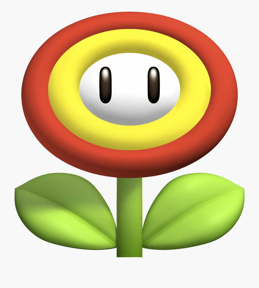 Transparent Power Up Png - Flower Power Up Mario, Transparent Clipart