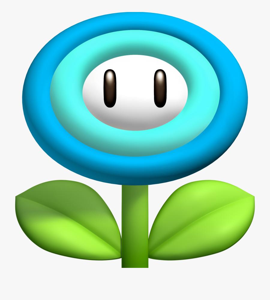 Super Mario Clipart Power Up - Mario Bros Ice Flower, Transparent Clipart