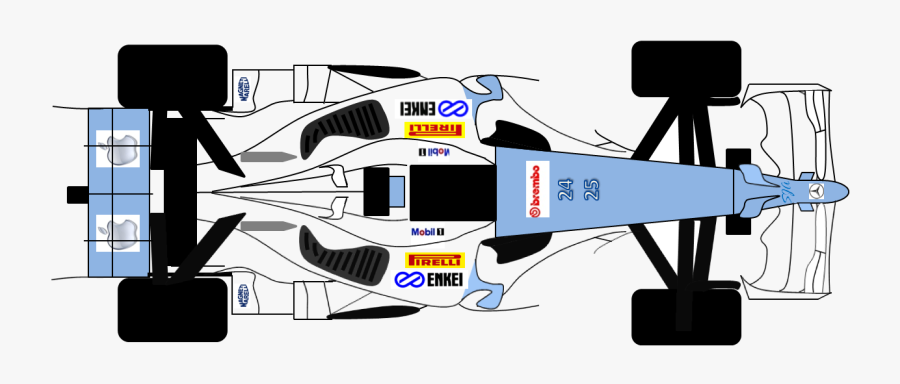 Not The Most Complicated Car - Racing Car Birds Eye View, Transparent Clipart