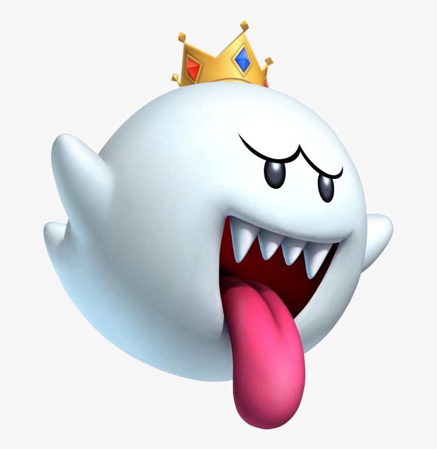 "Mario Brothers, Super Mario Bros And Luigi""s Man - Mario Bros King Boo, Transparent Clipart"