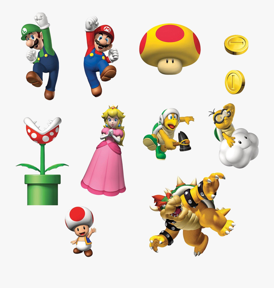 Mario Bros Clipart At Free For Personal Use Transparent - Super Mario Bros Graphics, Transparent Clipart