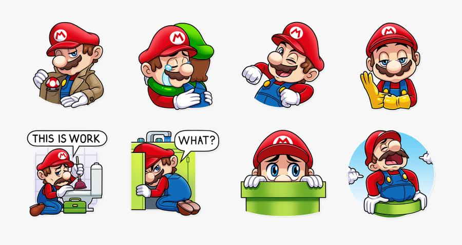 Stickers Telegram Super Mario Bros, Transparent Clipart