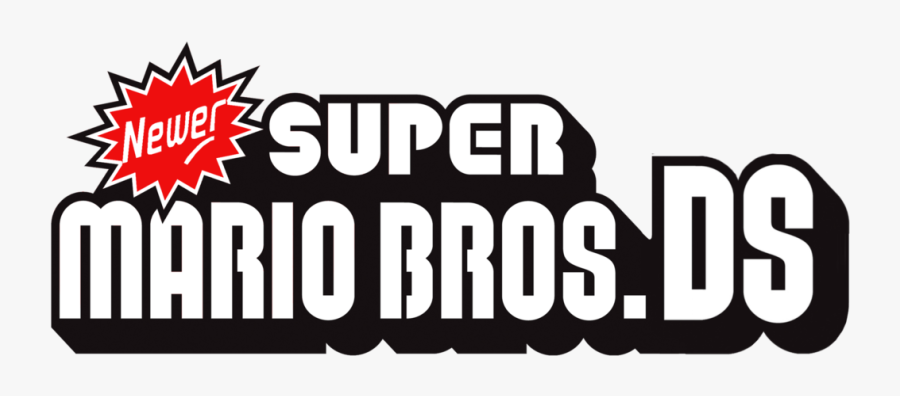 New Super Mario Bros Ds Logo Free Transparent Clipart Clipartkey