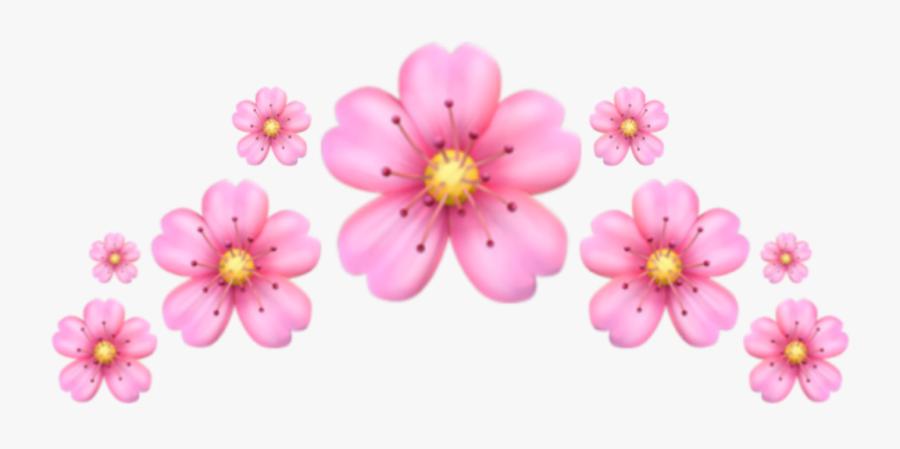 #emoji #crown #pink #flower #corona #emoji #flor #rosa - Iphone Flower Emoji Png, Transparent Clipart