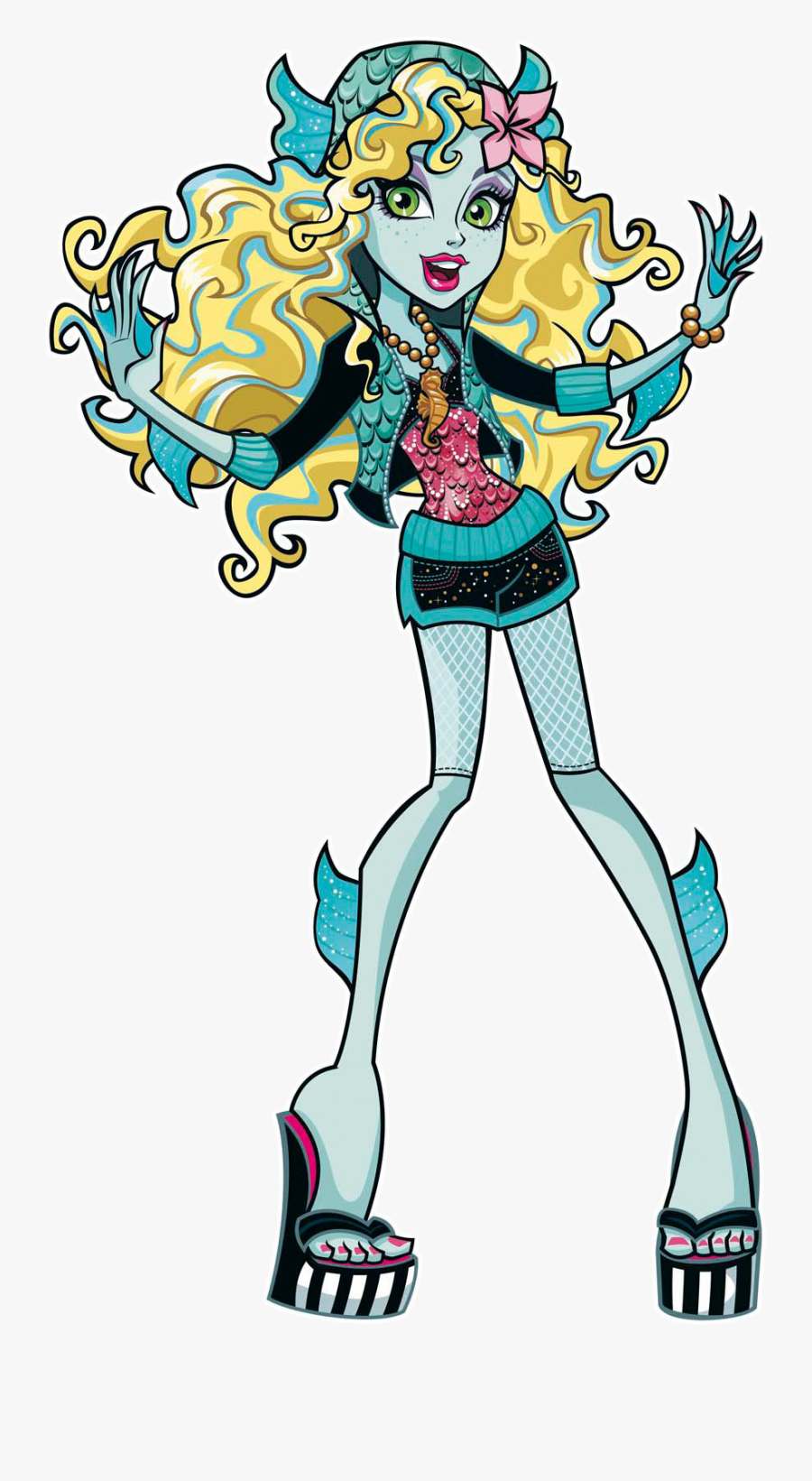 Monster High Characters Lagoona Blue Clipart , Png - Lagoona Blue Monster High Characters, Transparent Clipart