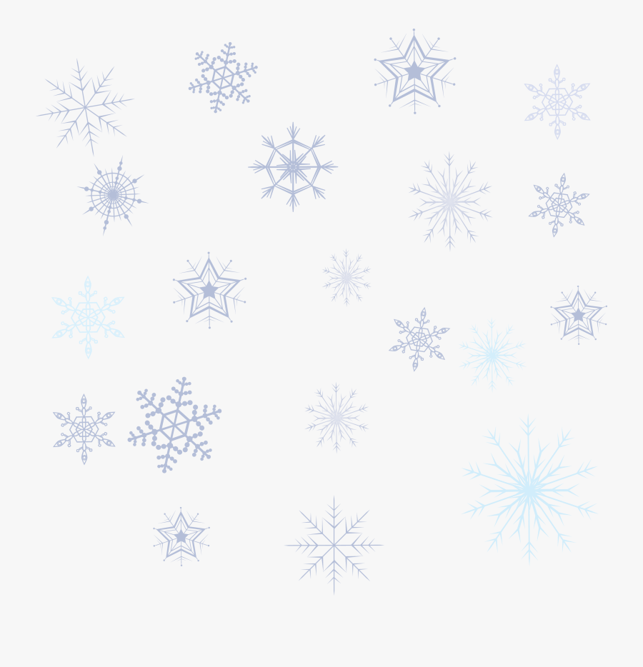 Variety Snowflake Collection Png Download - Snowflake Pattern Png, Transparent Clipart