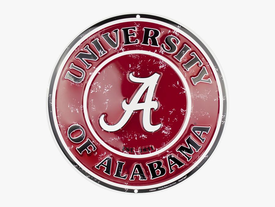 Alabama Crimson Tide Circle Sign - Alabama Football Sign, Transparent Clipart
