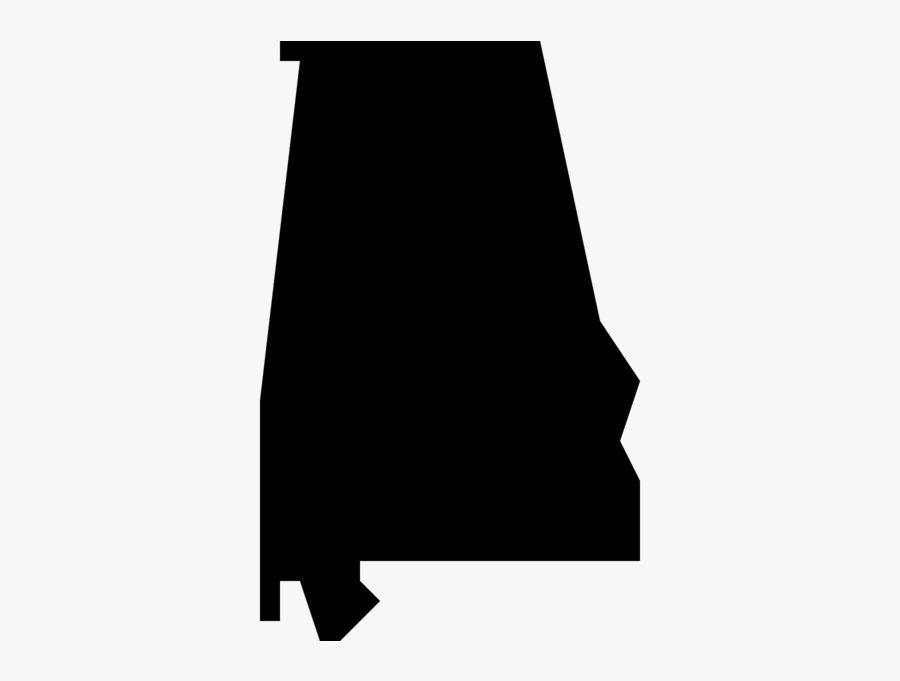 Alabama State Silhouette Png, Transparent Clipart