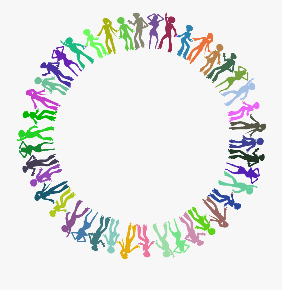 Listen To Win Or - Colorful Circle Border Design Png, Transparent Clipart
