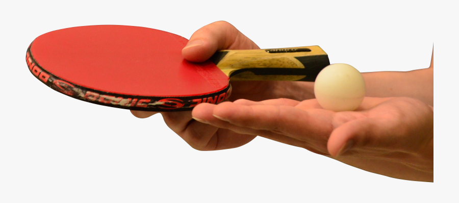 Hands Holding Table Tennis Of Racket And Ball Png Image - Racket Hand In Table Tennis, Transparent Clipart