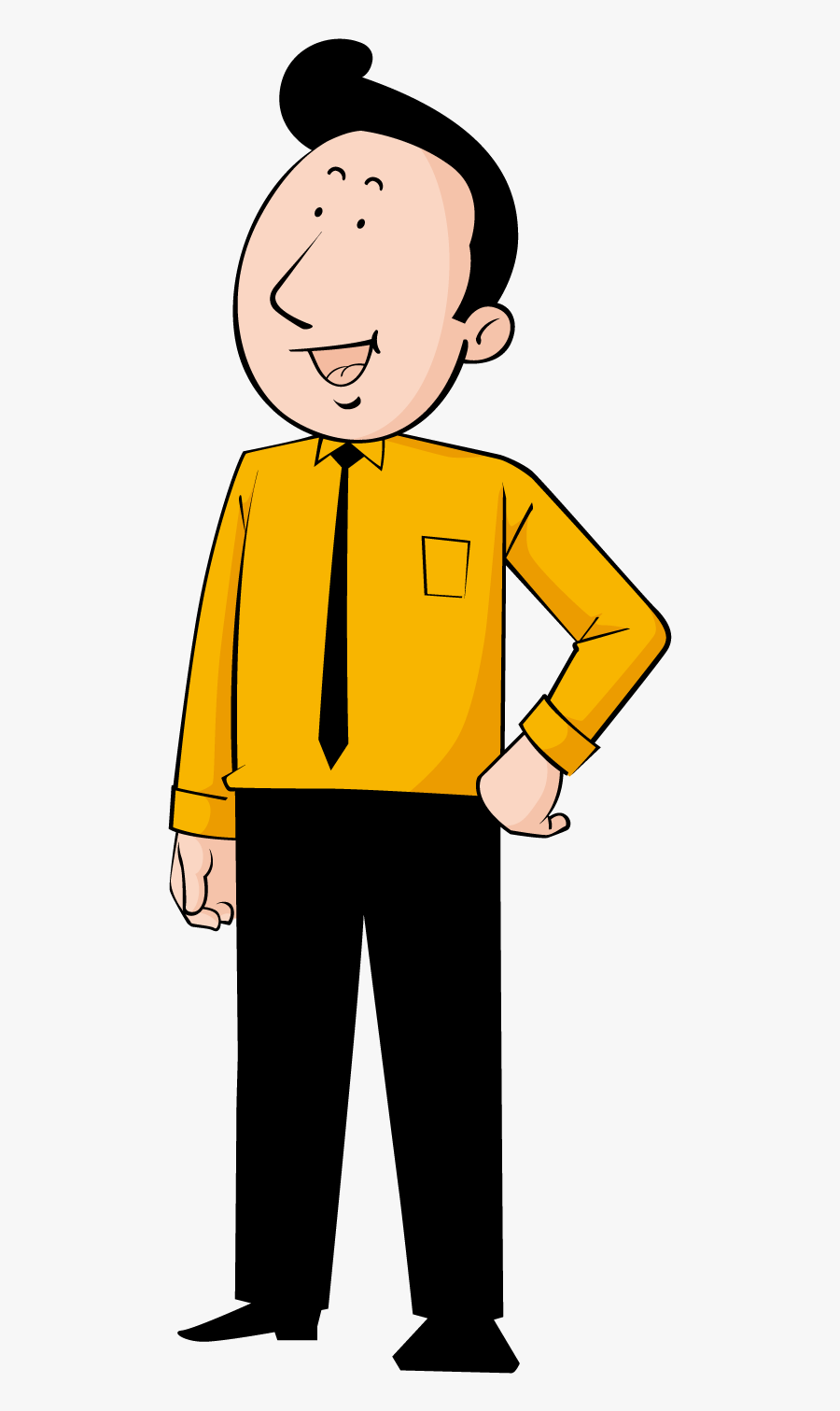 Happy Man Png Download - Transparent Cartoon Person Happy, Transparent Clipart