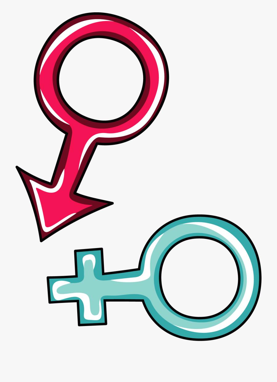 Gender Symbol Male Clip Art - Clipart Male Female Symbol, Transparent Clipart
