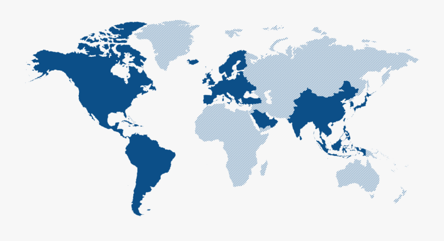Transparent Blue Png - World Map, Transparent Clipart