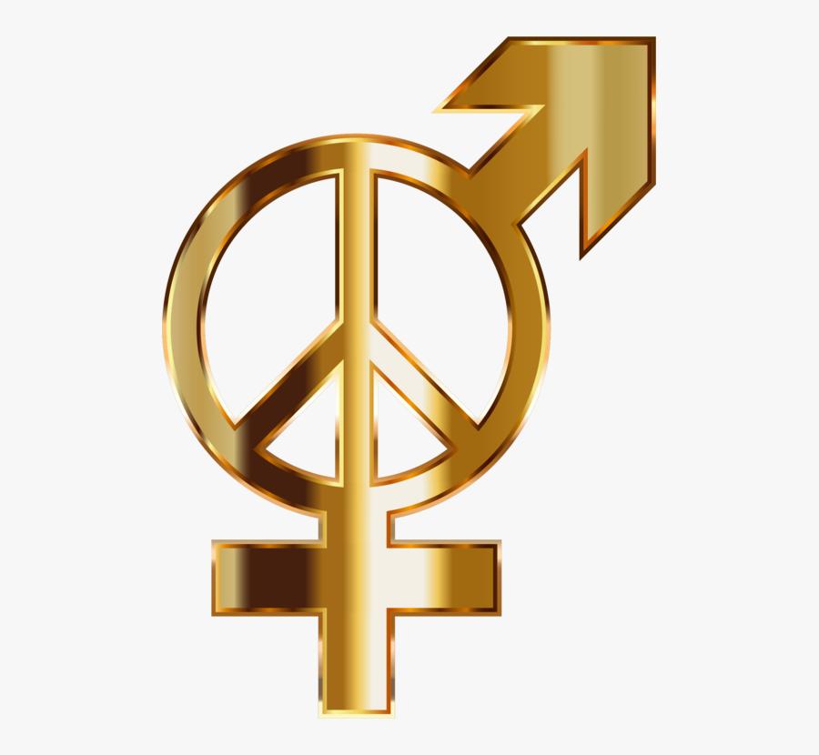 Text,symbol,angle - Gold Gender Logos Transparent Background, Transparent Clipart