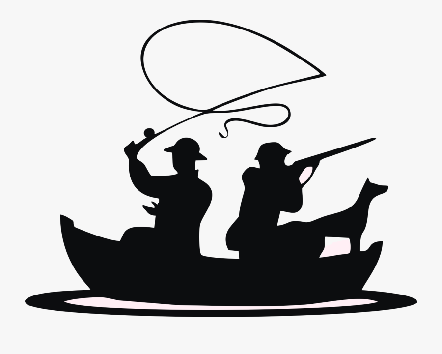 Fishing Boat Clipart Black White Fishing In Boat Silhouette Free Transparent Clipart Clipartkey