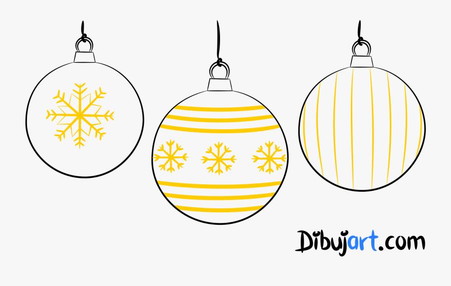 Cómo Dibujar Unas Bolas De Navidad - Dibujos De Bolas De Navidad, Transparent Clipart