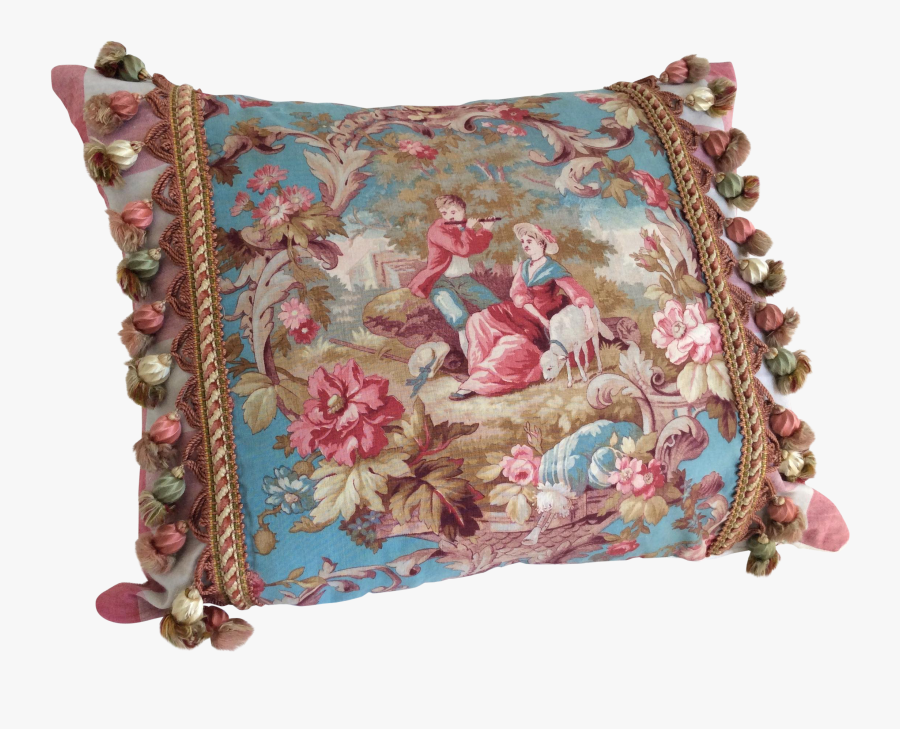 Clip Art French Textile - Cushion, Transparent Clipart