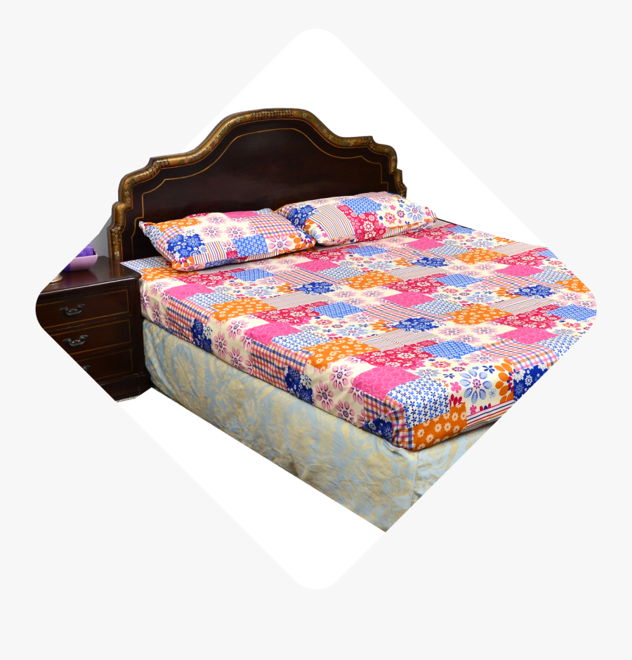 Home Bed Set - Bed Sheet, Transparent Clipart