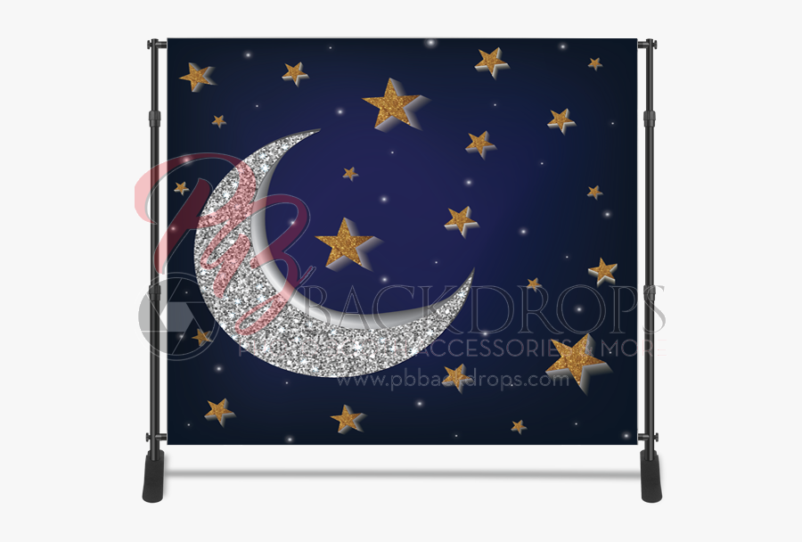 Transparent Stars Wallpaper Png - Moon And Star Backdrop, Transparent Clipart