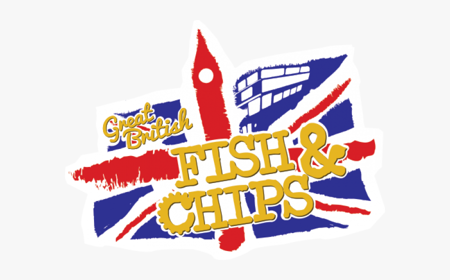England Clipart Fish - Fish N Chips Logo, Transparent Clipart