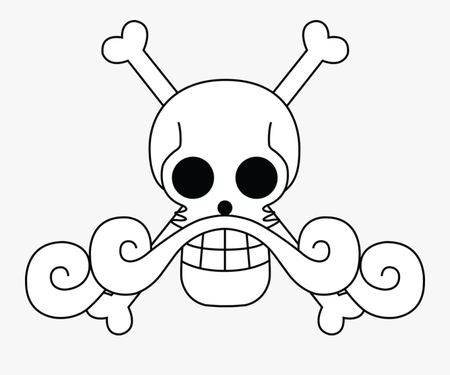 Drawing Pirates Pirate Flag Banner Freeuse Stock - One Piece Gol D Roger Jolly Roger, Transparent Clipart