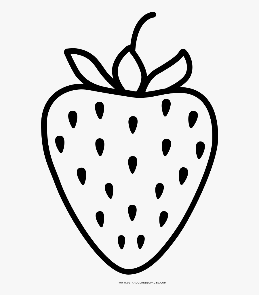Strawberry Coloring Page Strawberry Black And White Png Free Transparent Clipart Clipartkey