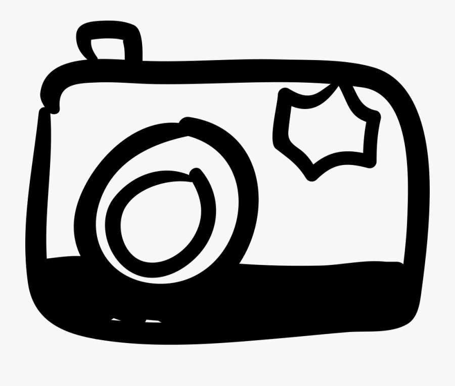 Photo Camera Hand Drawn Tool Comments - Camera Icon Hand Drawn Free, Transparent Clipart