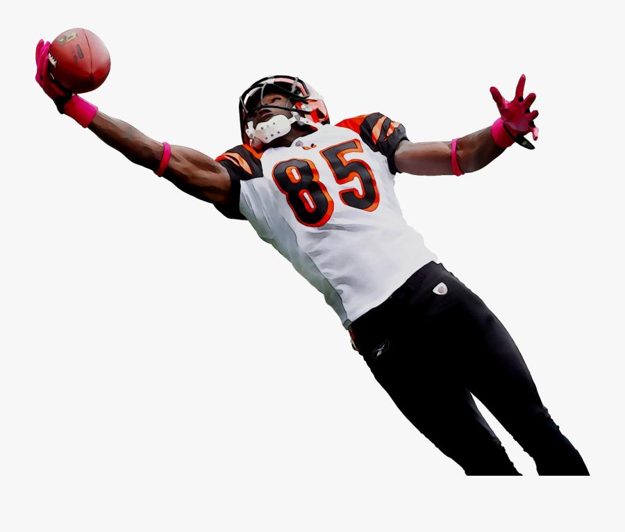 Football Cincinnati Nfl Bengals Player American Team - Football Player Catching A Football, Transparent Clipart