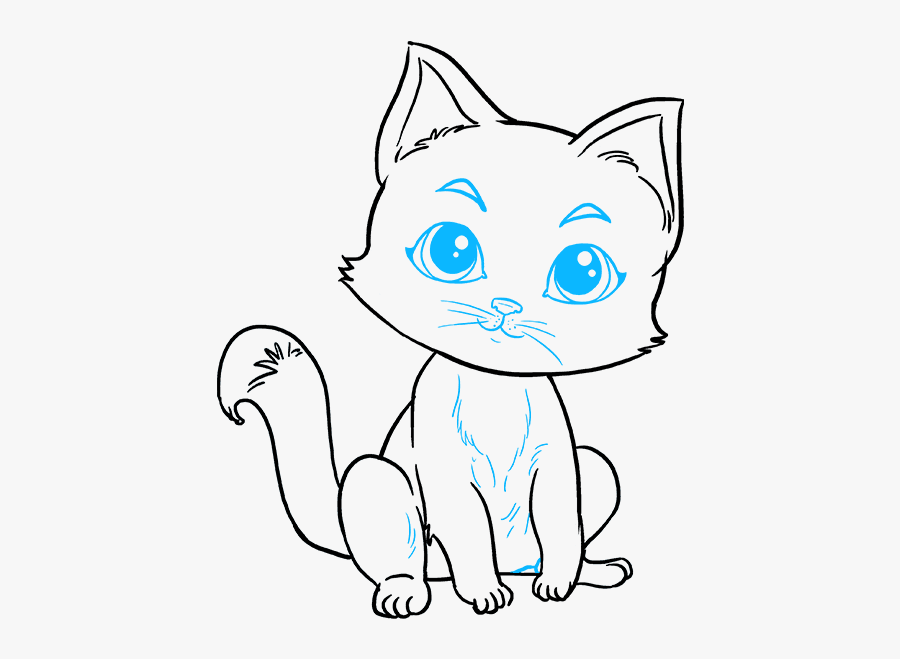 How To Draw Kitten - Draw Kittens Step By Step, Transparent Clipart