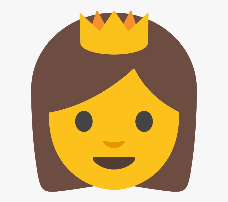 Emoji With Sunglasses Thumbs Up Svg File - Princess Emoji Google, Transparent Clipart