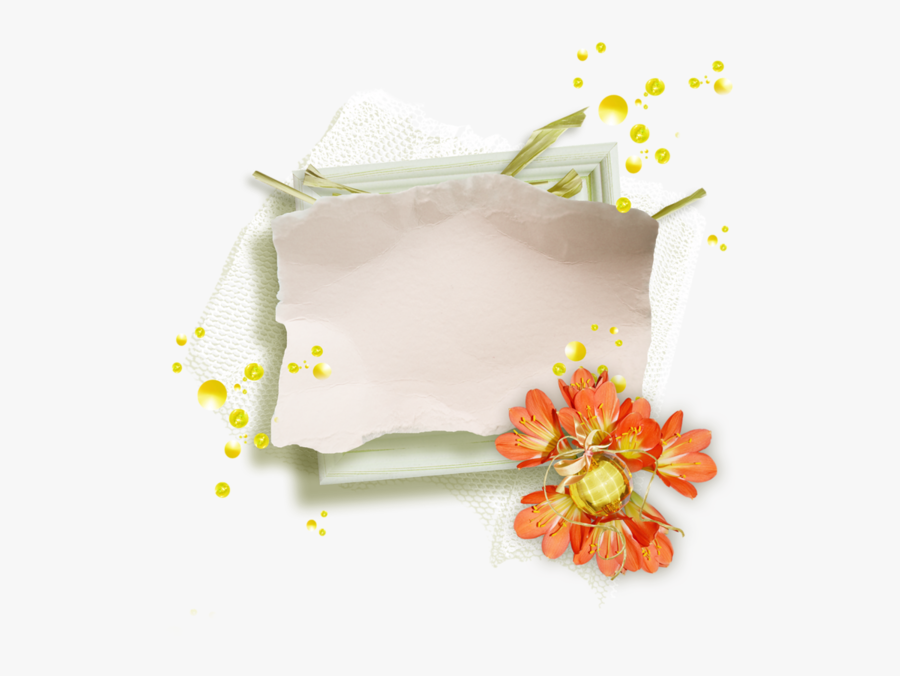 Transparent Paper Napkins Clipart - Floral Design, Transparent Clipart