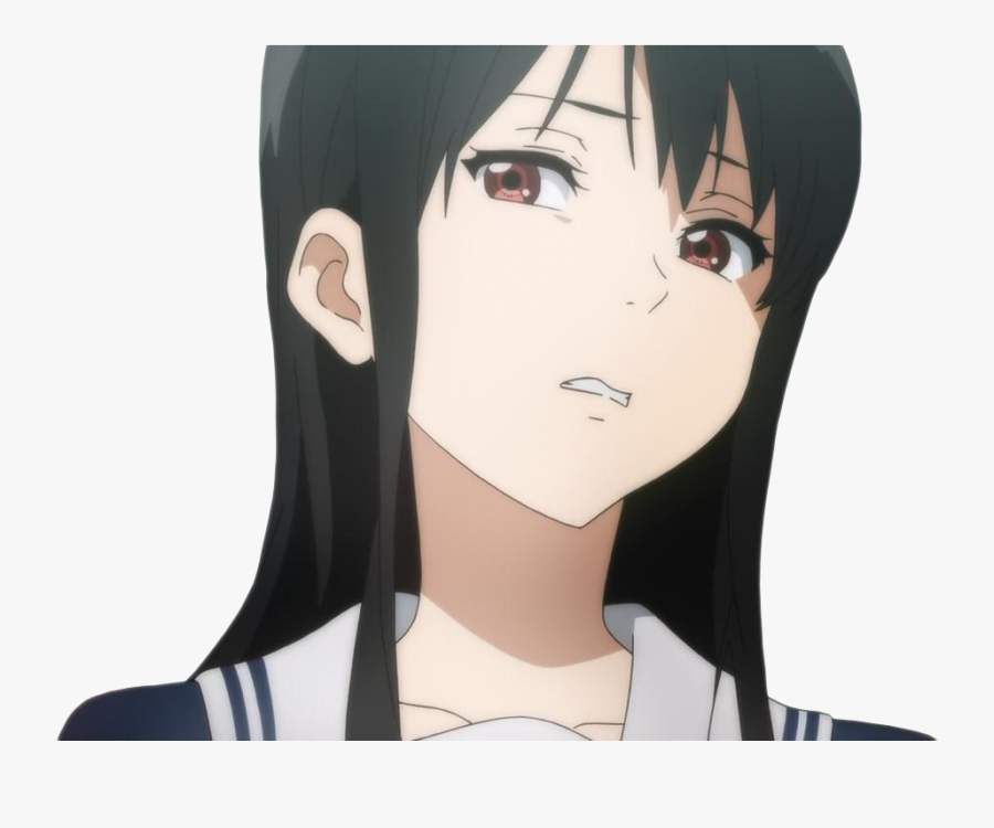 Transparent Anime Girl Face Png - Anime Girl Disgusted Look, Transparent Clipart