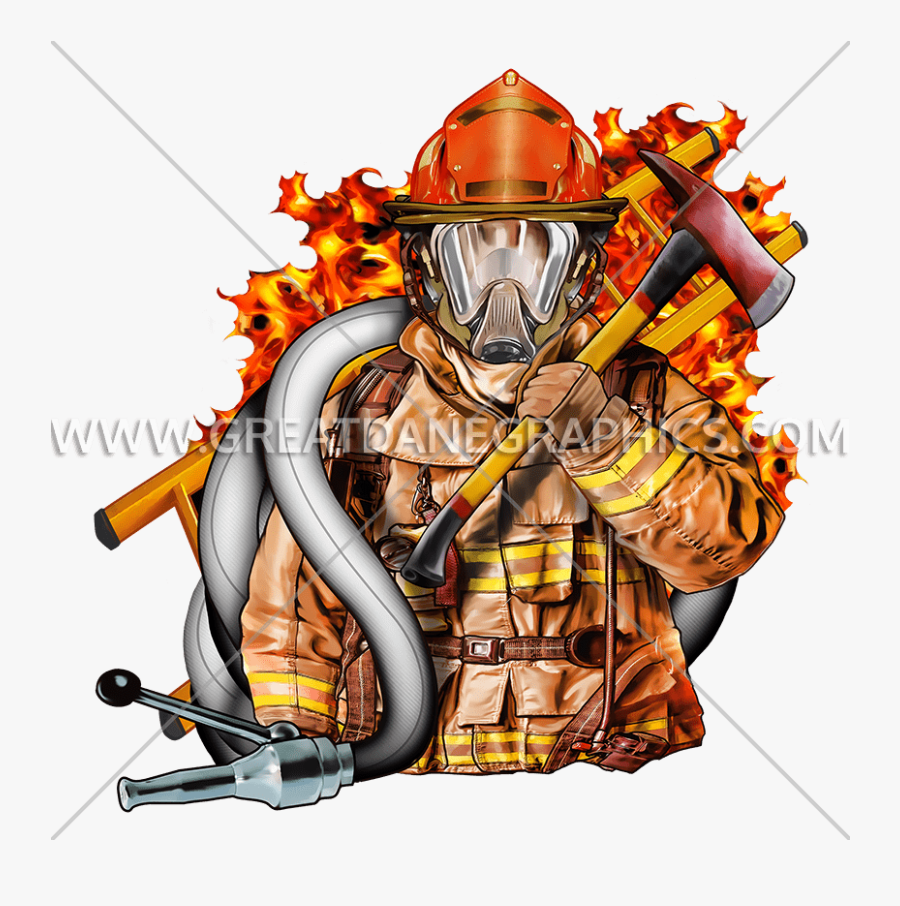 Volunteer Fighter Production Ready - Fire Fighter, Transparent Clipart
