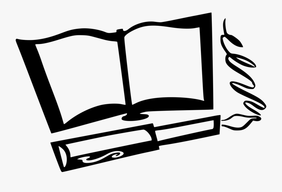 Coloring Book,pen,quill - Books And Pens Clipart, Transparent Clipart