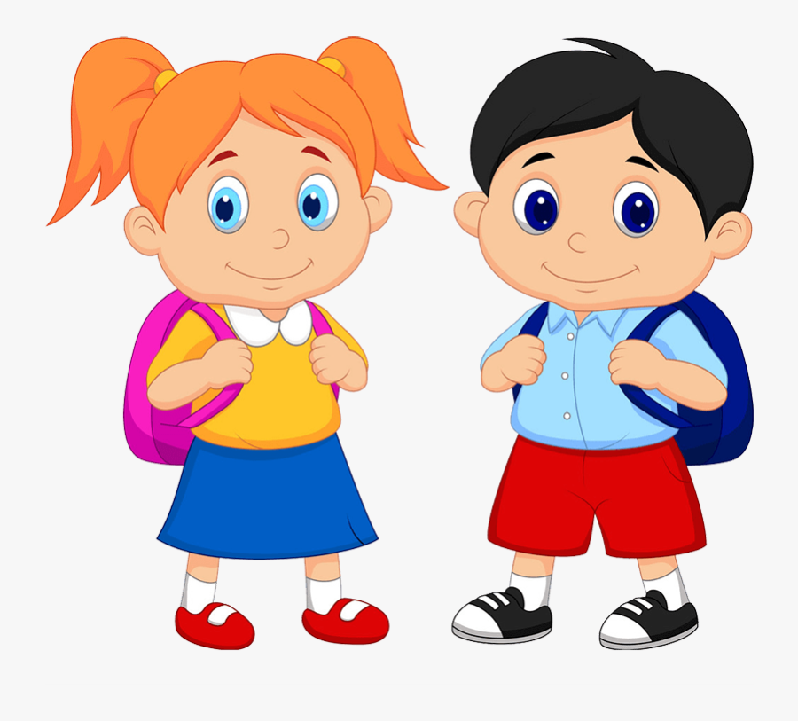 Summer Vacation Dates - Student Boy And Girl Clipart, Transparent Clipart